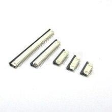 FFC FPC connecteur 1.0mm 4 broches   Connecteur 6 8 10 12 14 18 20 22 24 26 30P Contact du bas à angle droit SMD / SMT ZIF 10 pièces