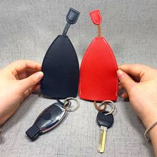 New Style Genuine Car Keychain Pocket Organizer Mini Wallets Key Holder Pull-style Leather Bag House