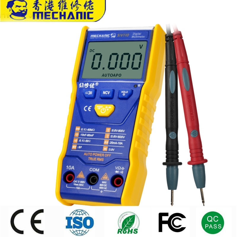 60PC Palm Size Electrical Tester NCV Wireless Measurement Multitester LCD Display Auto Digital Display High-Precision Multimeter