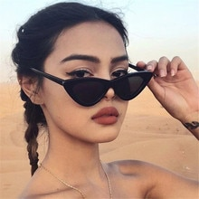 Vintage Cateye Sunglasses Women Goggles Triangle Sexy Retro Small Eyewear Brand Designer Female Chea
