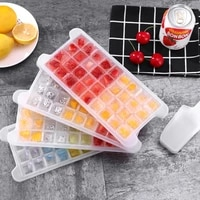 soft silicon bottom frozen ice cube trays bpa free ice cube storage container box with lid ice mold makers for cool drinks