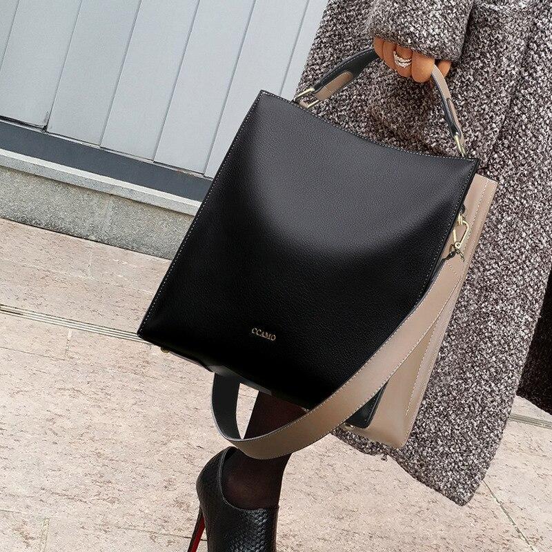 حقائب يد جلدية أصلية 100% ، حقيبة كتف كبيرة السعة ، متطابقة ، عصرية ، مصممة ، مجموعة جديدة 2020