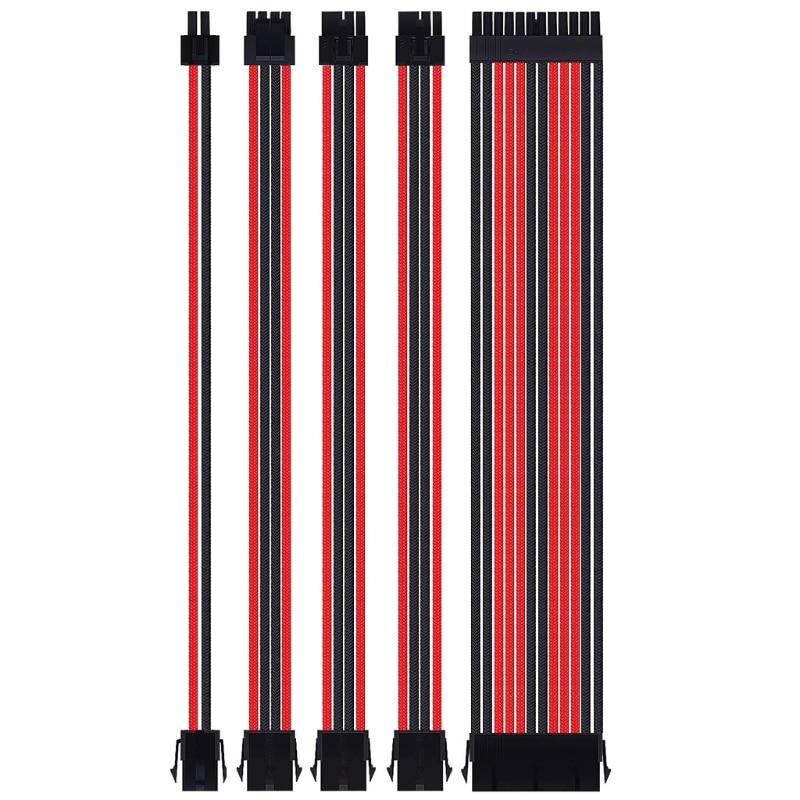 2021 New 18AWG AT X Extension Sleeved Cable Kit ATX24Pin/EPS 4+4Pin/PCI-E 8Pin/PCI-E 6Pin