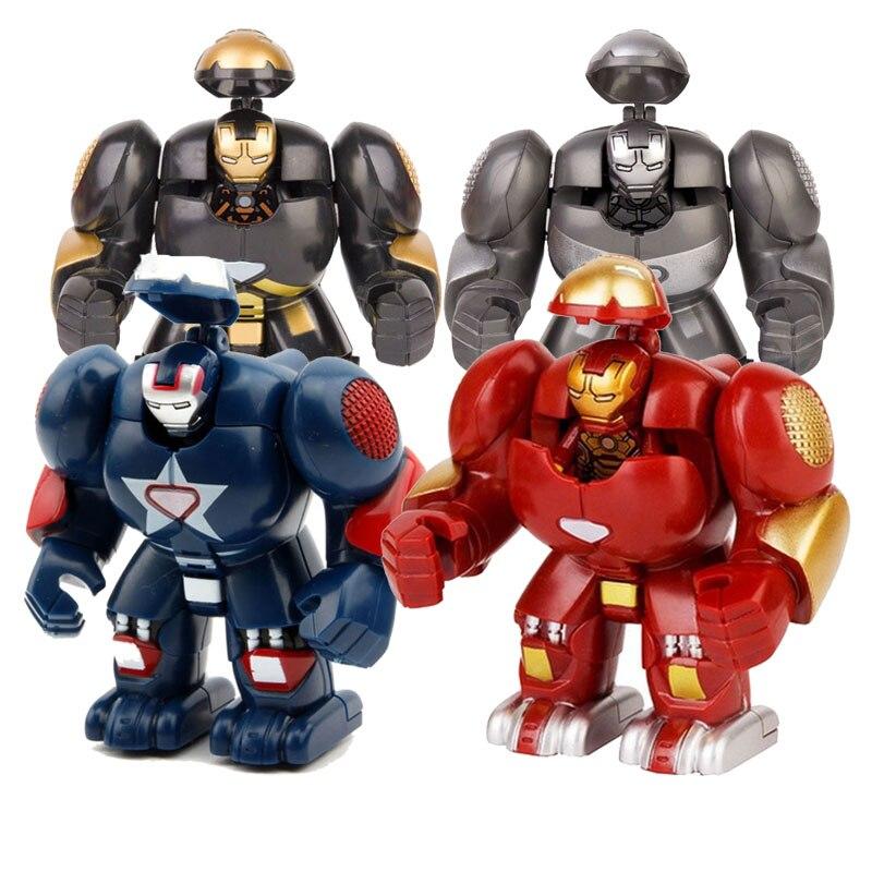 Superhéroes de Marvel ML-K44 Iron Man con bloques de construcción Hulkbuster, figuras de acción de juguete para niños