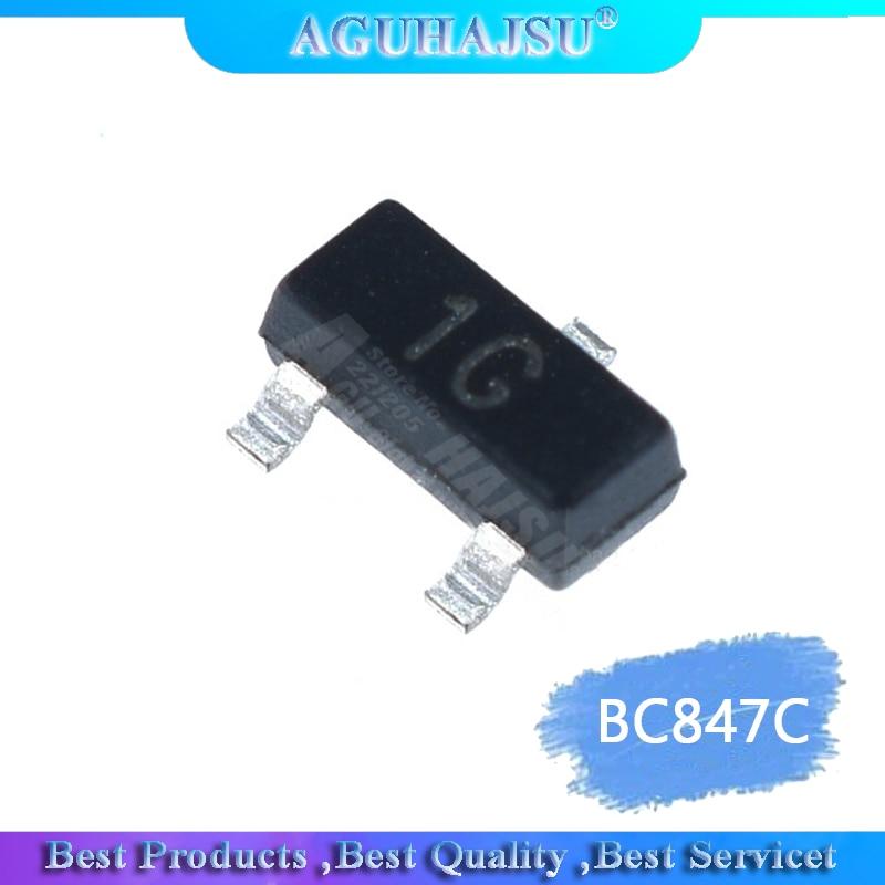 100PCS BC847C SOT23 BC847 SOT SMD SOT-23 1G 0.1A/45V new transistor