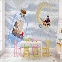 milofi manufacturers custom wallpaper mural 3d nordic hand painted cartoon bear childrens room background wallpaper mural