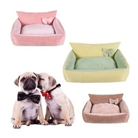 super soft dog beds removable washable pet sleeping houses for dogs cats waterproof bottom warm puppy sofa bed dog accessories