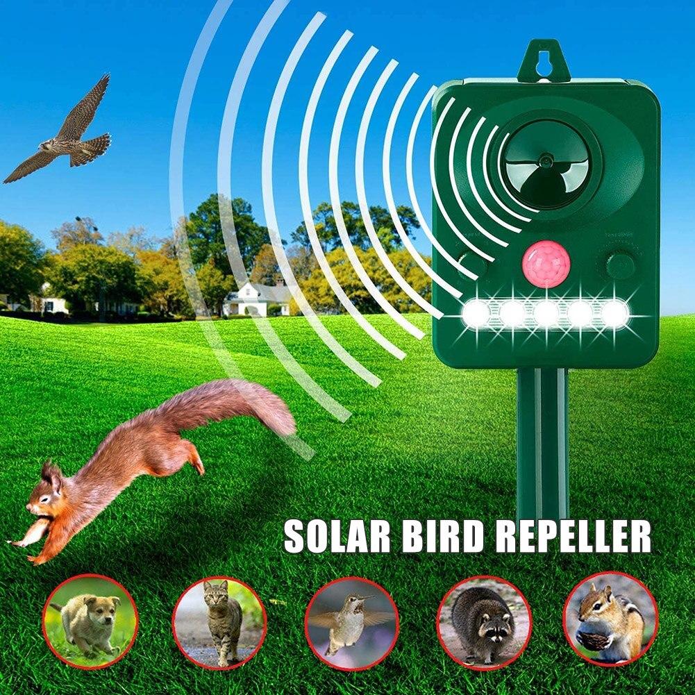 Repelente de plagas con energía Solar para exteriores, Sensor de movimiento, repelente impermeable, repelente para gatos, perros, conejos, ratas J8