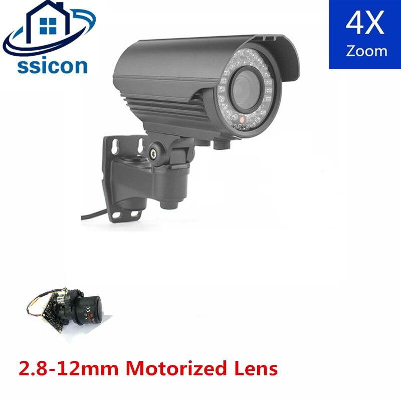 SSICON 2MP 2,8-12mm lente motorizada 4X Auto-Zoom vídeo vigilancia AHD cámara exterior Bullet 1080P cámara analógica CCTV