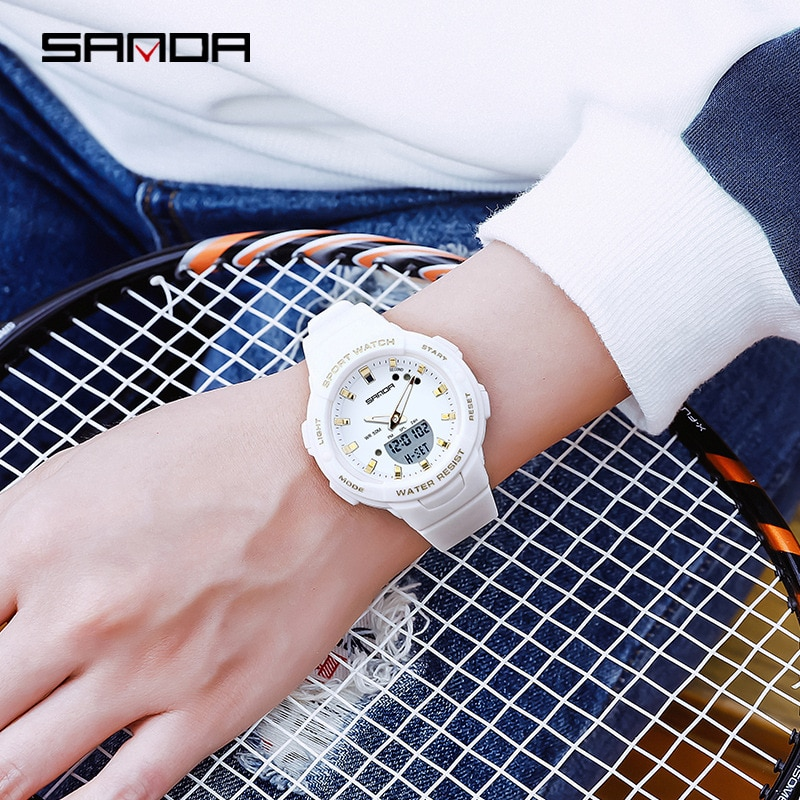 SANDA  NEW Digital Sport Watches Couple Watch Fashion Lover's Wristwatches Outdoor Multi-function Creative Clock Top Brand enlarge