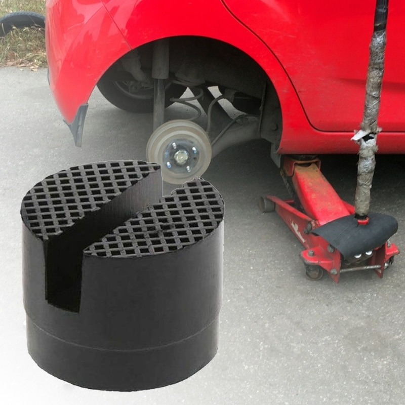 UniversalCar Lift Jack Rubber Stehen Pads Schwarz Gummi Schlitz Boden Jack Pad Rahmen Schiene Adapter für BMW Skoda Ford Toyota
