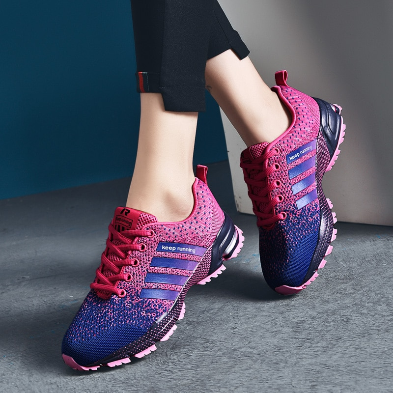 35-47 Plus Size Women Running Shoes 2020 Breathable Comfort Outdoor Sports Shoes Fashion Men Sneaker
