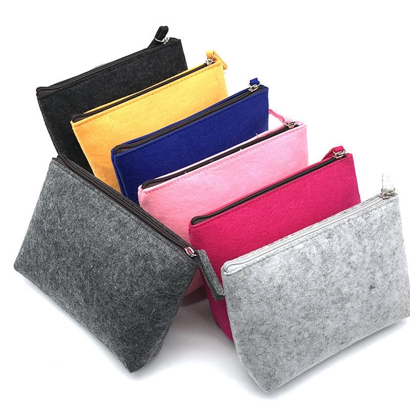 Portable Felt Digital Storage Bag Laptop Accessory Bag Felt Travel Gadget Organizer Bag Travel Elect
