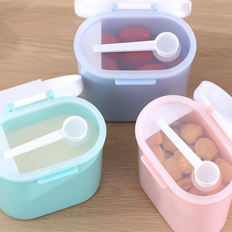 Almacenamiento de leche para bebés dispensador de leche en polvo portátil contenedor de alimentos caja de alimentación para niños caja de PP