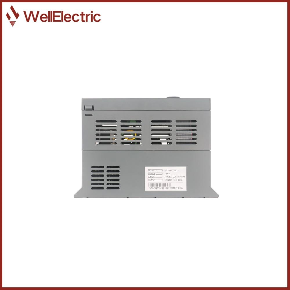 VFD Inverter 1.5KW/2.2KW/3.7KW/5.5KW/7.5KW 380V V/F control for Motor Speed Control Frequency Inverter enlarge