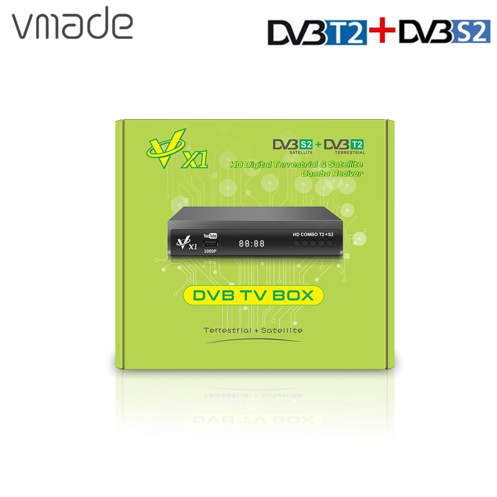 Newest DVB-T2 DVB-S2 Terrestrial Satellite Receiver Support AC3 Biss CCCAM IP TV COMBO 1080P Full HD DVB T2 S2 smart Receptor