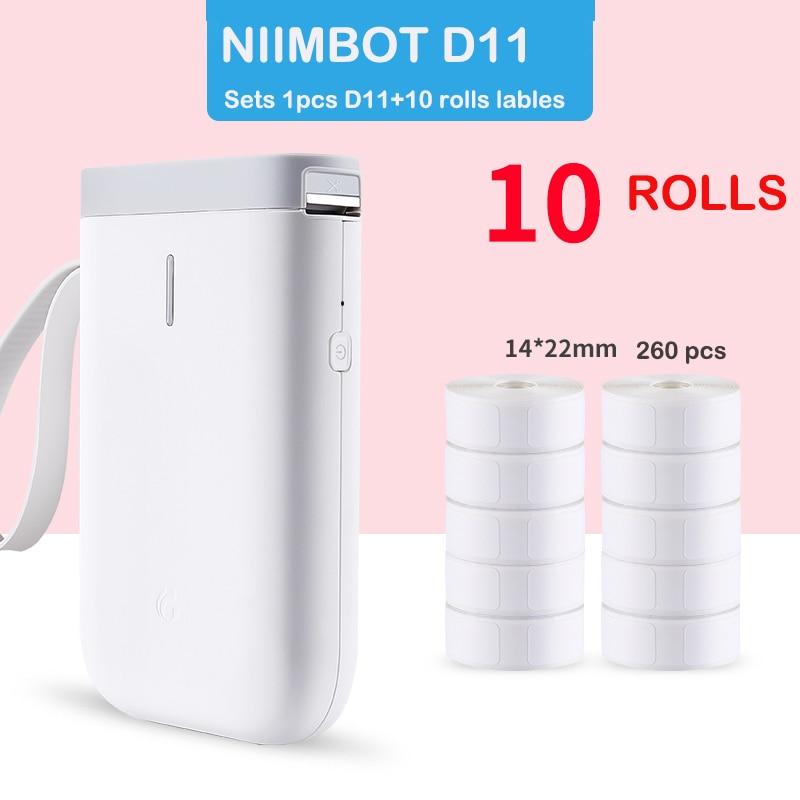 Специальная цена, принтер Niimbot D11, термоэтикетка, бумага, дата производства, самоклеящаяся бумага