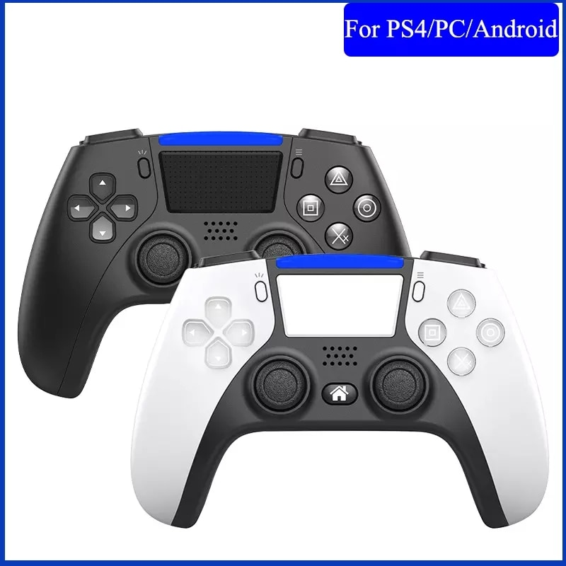 wireless bluetooth game controller vibration six axis gamepad controller with gyroscope accelerator for switch console Bluetooth Wireless Game Controller For PS4 Console 6-axis Double Vibration Game Gamepad For PC /Android Phone Joysticks Gamepad