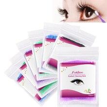 100PCS/Bag Disposable Makeup Cotton Swab Mini Individual lash Applicators Mascara Brush Eyelash Exte