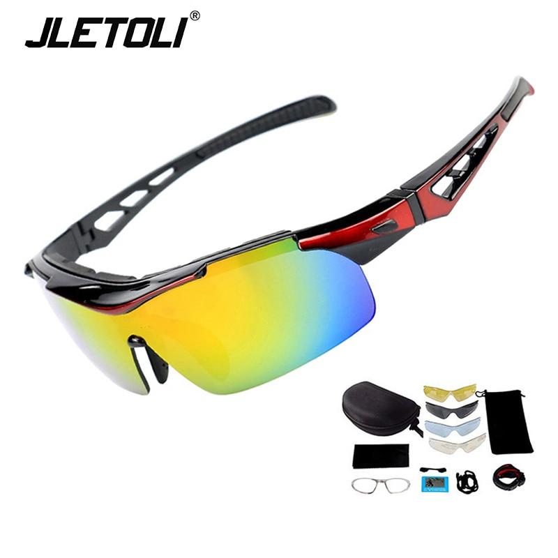 Gafas de sol polarizadas JLETOLI para Ciclismo, gafas de sol deportivas para hombre, gafas para Ciclismo a prueba de viento, gafas de Ciclismo para mujer, lentes Mtb 5
