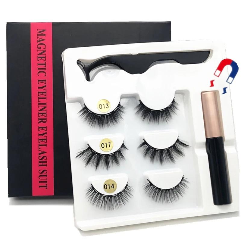 AliExpress - 3/5 pairs of magnet eyelash makeup eyelashes magnetic eyelash eyeliner eyelash curler easy to wear thick false eyelashes  gift