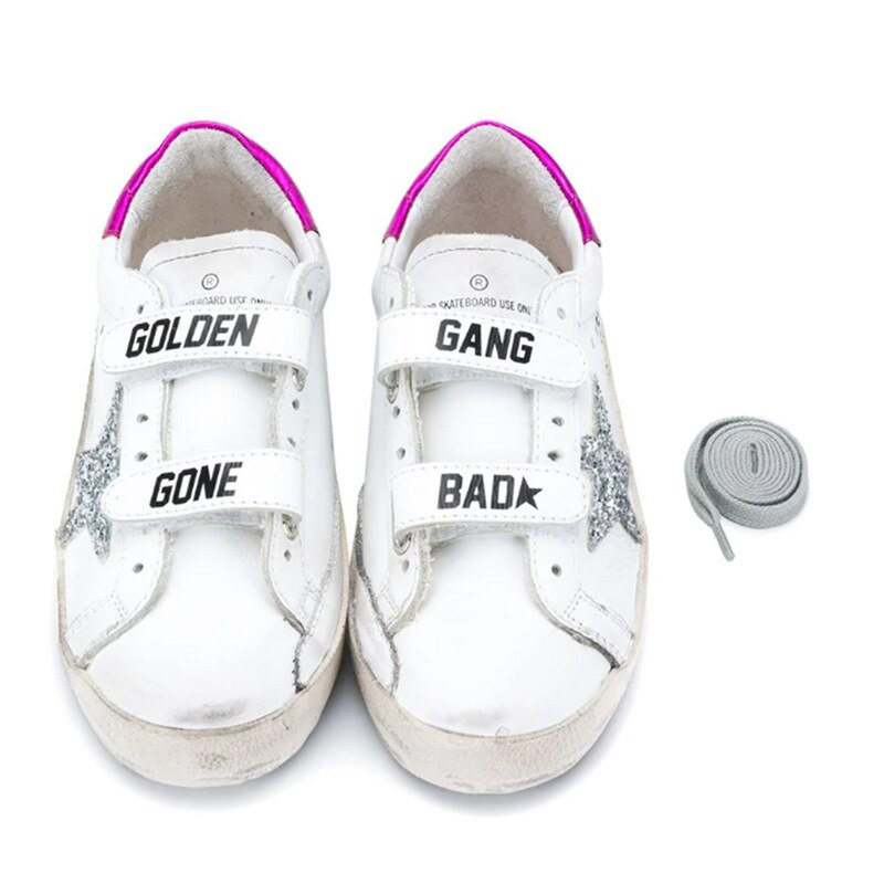 Children's Spring and Summer New Products Powder Tail Velcro Retro Old Small Dirty Shoes Boys and Girls Casual Kids Shoes CS199 enlarge