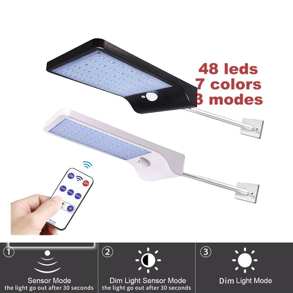 Luz Solar portátil lámpara de energía Solar 48 bombilla LED para Camping al aire libre tienda de luz Solar lámpara con mando a distancia y temporizador