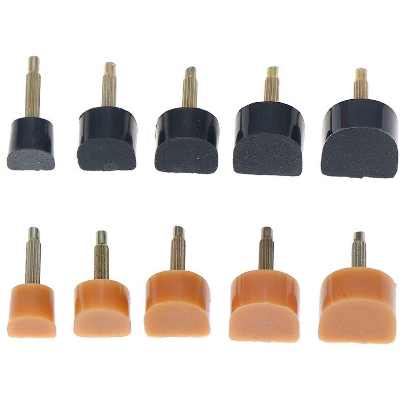 10 pçs = 5 pares de salto alto dicas de reparo pinshigh calcanhar dicas torneiras passador elevadores sapatos femininos substituição calcanhar rolhas proteger