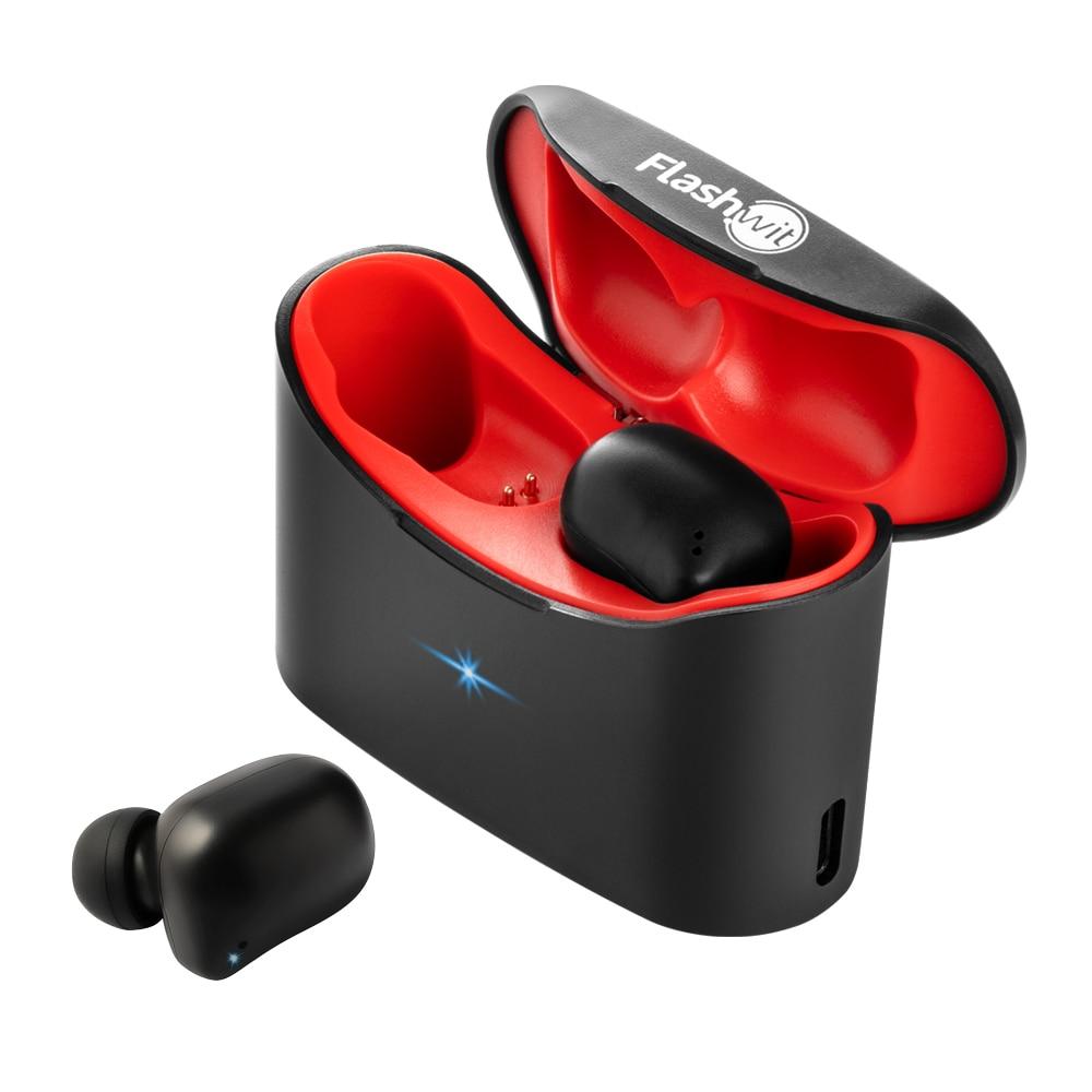 Flashwit SH2 TWS Bluetooth Stereo Earphones Headsets Mini True Wireless Earbuds Sport Headsets With