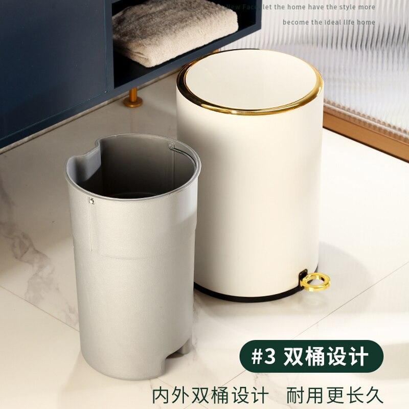 Nordic Luxury Fashion Trash Bin Bedroom Modern Design Minimalist Trash Can Home Creativity Poubelle Kitchen Storage BC50LJT enlarge