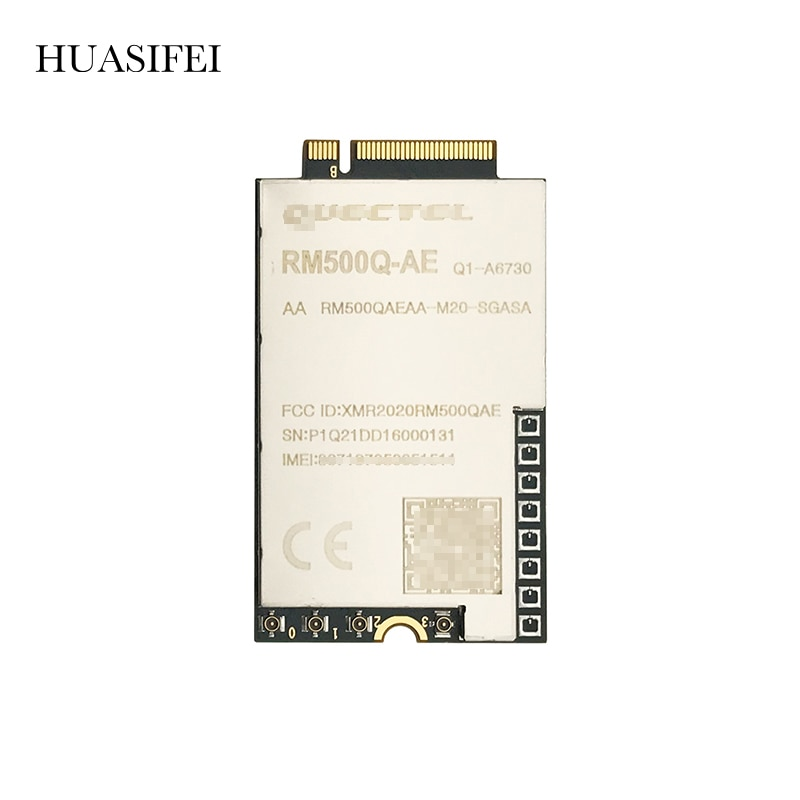 HUASIFEI RM500Q 5G NR Module Cover global 5G frequency bands, up to 5.0Gbps DL 4 × 4 MIMO for 5G NR and LTE-A bands WIFI