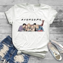 Harajuku Avengers Endgame Friends T Shirt Women Tony Stark friends T-Shirt men funny graphic tee Summer Tops camisetas