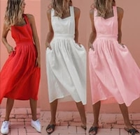 women summer boho strappy long maxi sleeveless dress sexy backless cross strap party red dress beachwear sundress vestido mujer