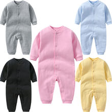 Toddler Romper Newborn Baby Girl Boy Winter Clothes Set Sweet Long Sleeve Solid Romper Jumpsuit Cott