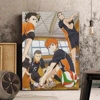 Classique Anime volley-ball garcon toile peinture Haikyuu Style japonais dessin anime affiches et impressions mur Art photos pour la maison deco