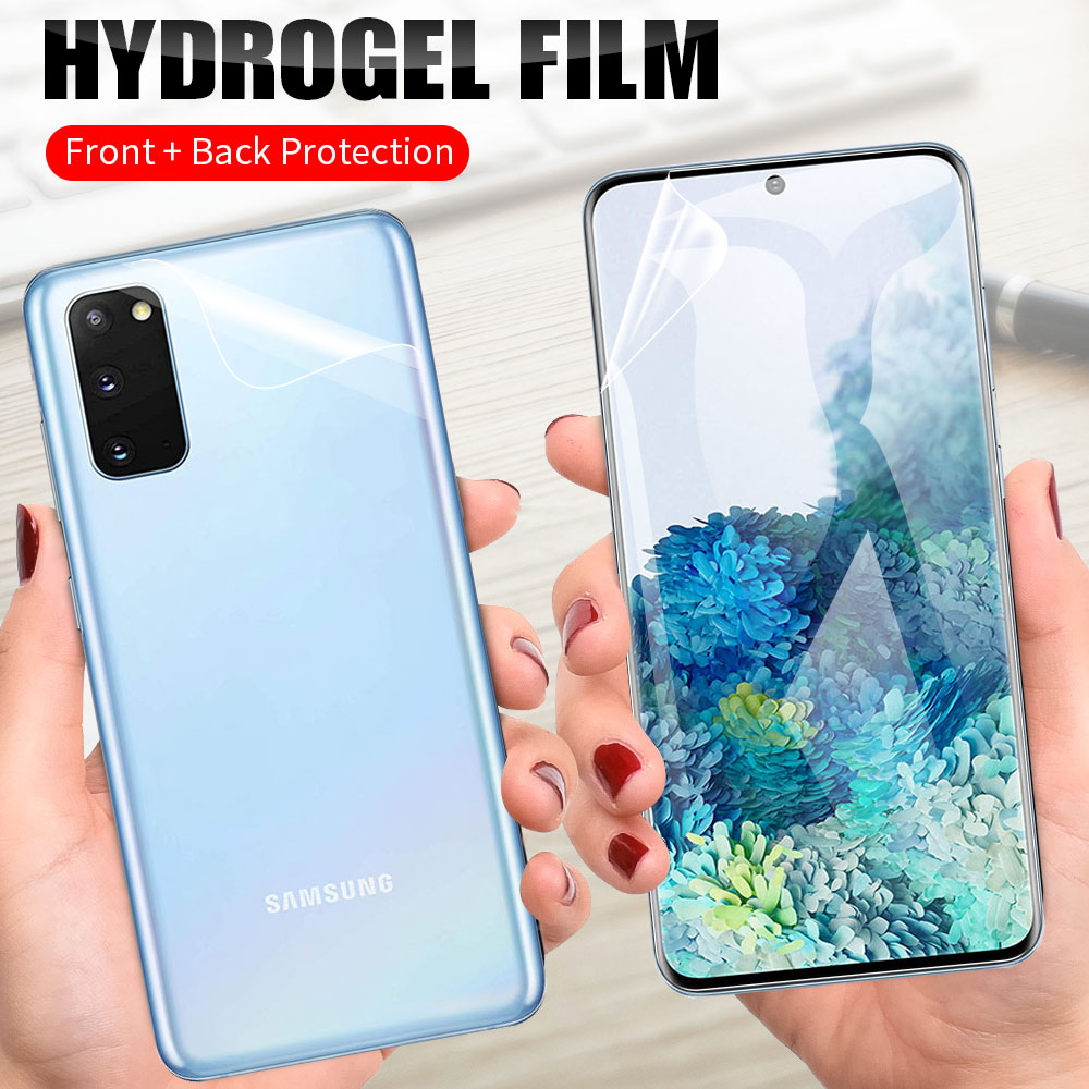 Película protectora frontal + trasera de TPU suave para Samsung Galaxy Note 10 Lite S10 S20 Plus Ultra S10E A8 Plus 2018 M20 película de hidrogel