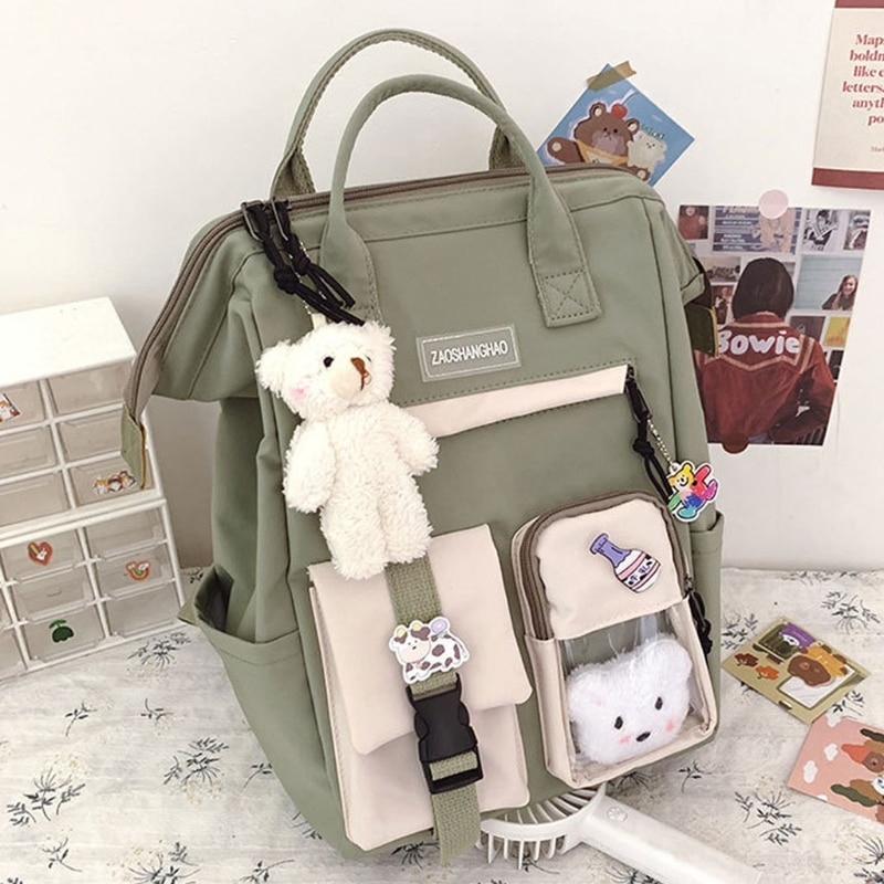 2021 Purple Backpack Women Waterproof Candy Colors Backpacks Fancy High School Bags for Teenage Girl Cute Travel Rucksack