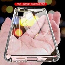 Custodia in Silicone antiurto di lusso per Huawei P30 P20 Lite Pro P20 P40 Mate 10 20 30 Lite Pro P Smart 2019 Cover posteriore trasparente