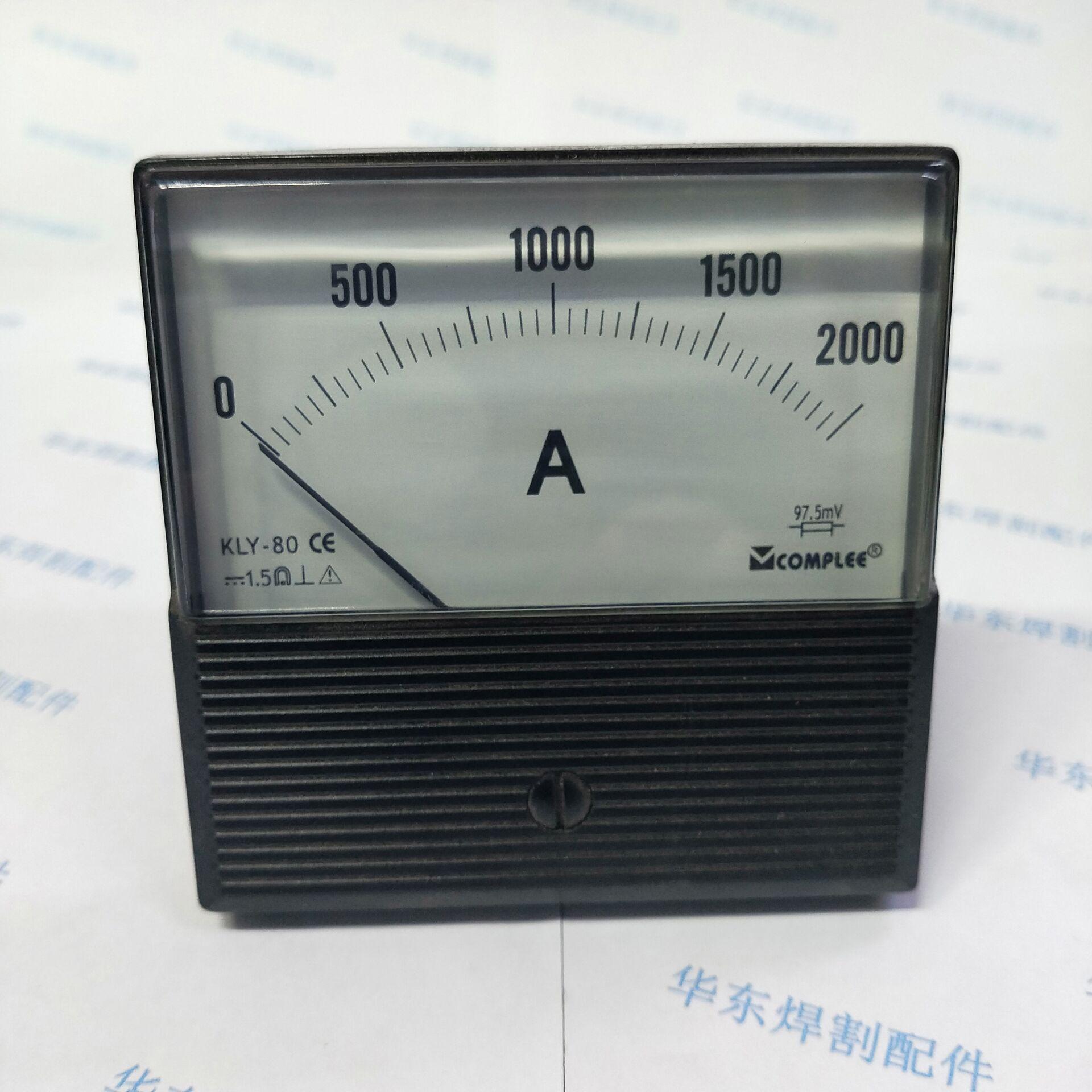 Amperímetro do Instrumento Submerso da Soldadura do Arco 0-100v para o Trole Voltímetro Kly-80 2000a Kly-c80