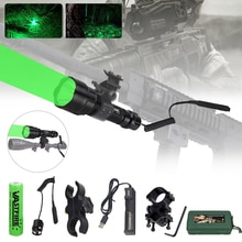 Tactical LED Light XML T6/Q5  LED Hunting Flashlight Torch+ Mount +Pressure Switch+18650 Battery+USB