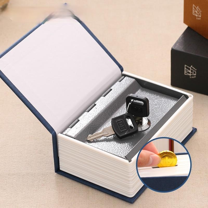 Dictionary Book Safe Box Piggy Bank Keylock Mini Size Metal Secret Money Coin Deposit Saving Home Decoration Accessory SB-CX