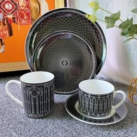nordic coffee cup deluxe water coffee tea milk cup ceramic mug with spoon set porcelain juice beverage new gift