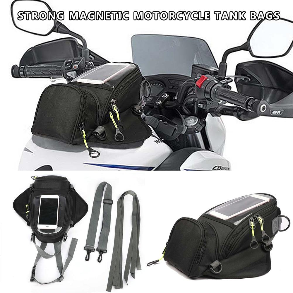 Motorcycle Oil Fuel Tank Bag Riding Bag Strong Magnetic Navigation Riding Shoulder Bag For GIVI Mobile Phone Navigation For GPS