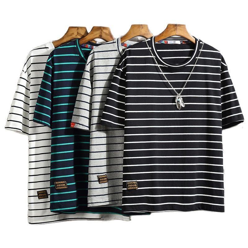 Camiseta informal de manga corta cuello redondo para hombre de Camisa de...