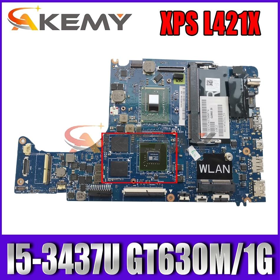 Akemy CN-0X4WPV X4WPV FOR Dell XPS L421X Laptop Motherboard QLM00 LA-7841P REV:1.0(A00) I5-3437U GT6
