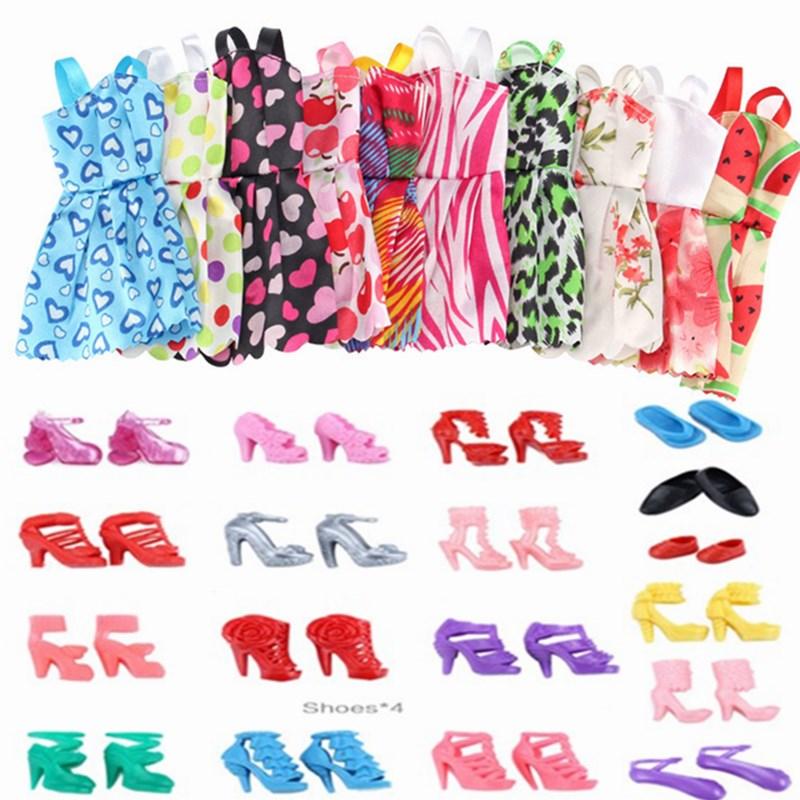 85 unids/set accesorios de la muñeca para muñeca Barbie zapatos botas Mini...