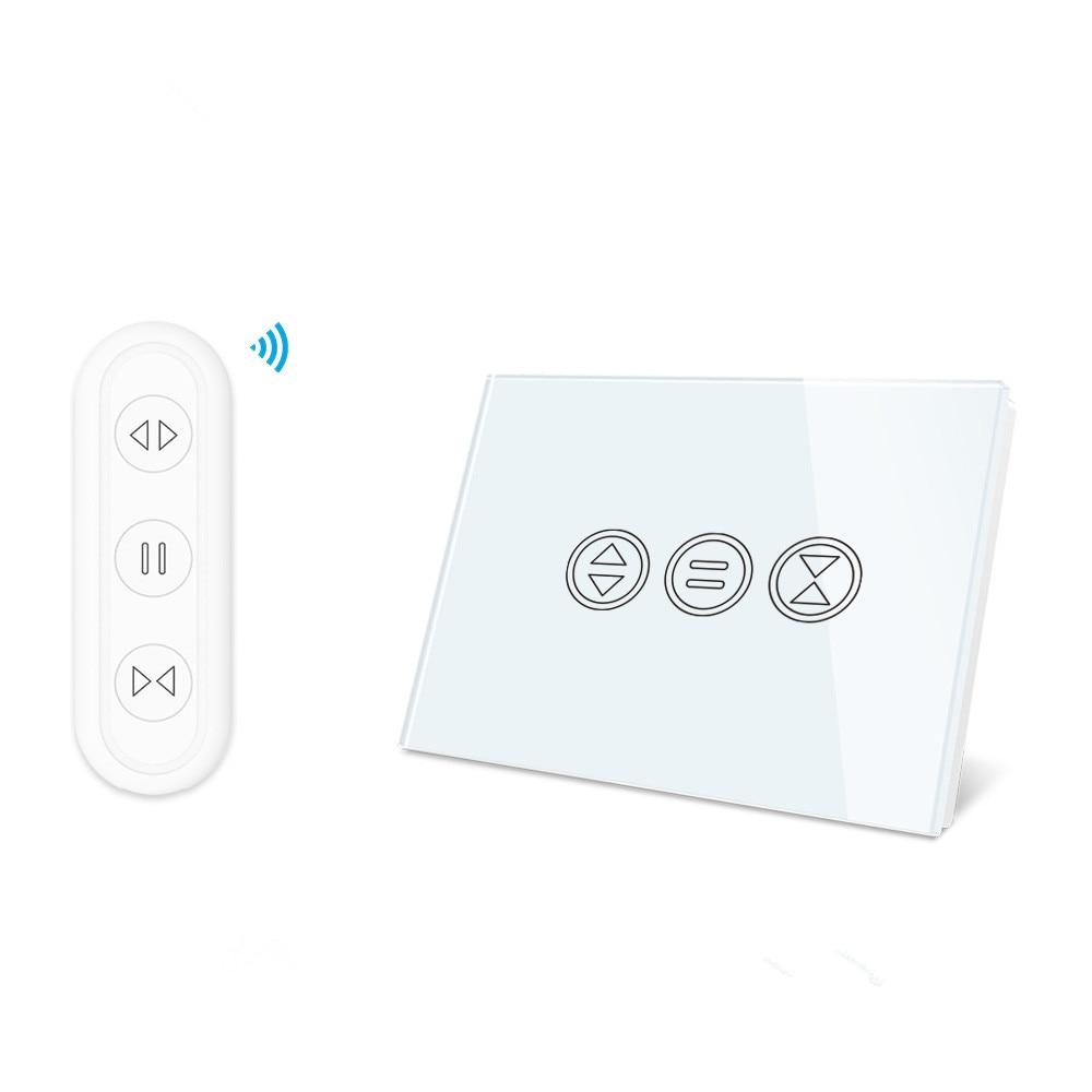 Interruptor de Cortina do Obturador do Rolo Nos para Motorizada Tuya Vida Inteligente Cego rf Controle Voz Remoto Google Casa Alexa Diy wi fi