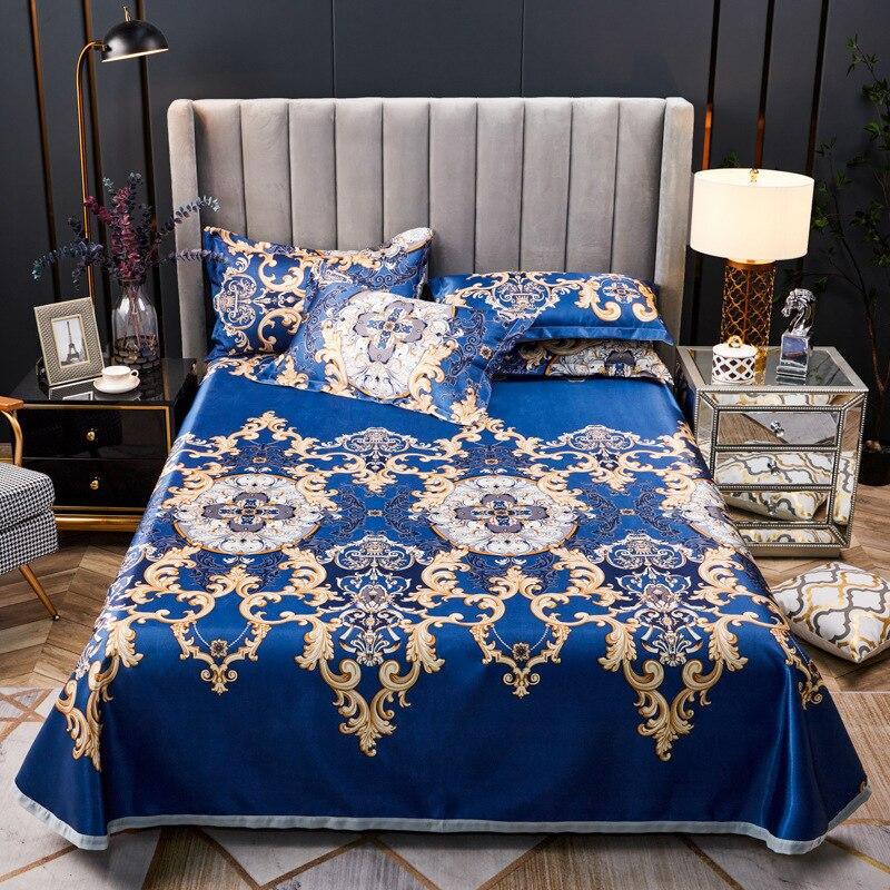 الصيف حصيرة 1 قطعة غطاء سرير 2 سادات ل الصيف الجليد باردة النسيج ملاءات غطاء سرير ل مزدوجة الفراش