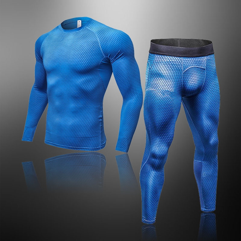 Men's Thermal Underwear Sets Compression Sport Suit Sweat Quick Drying Thermo Underwear Male Clothing Long Johns Sets New Brand top quality new thermal underwear men underwear sets compression fleece sweat quick drying thermo underwear men clothing s 3xl