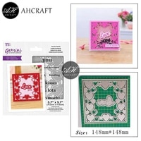 ahcraft square heart frame metal cutting dies for diy scrapbooking photo album decorative embossing stencil paper cards mould
